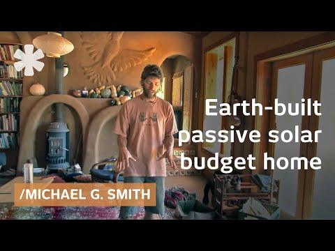 An earth-built passive solar house: cob (south), strawbale (north)