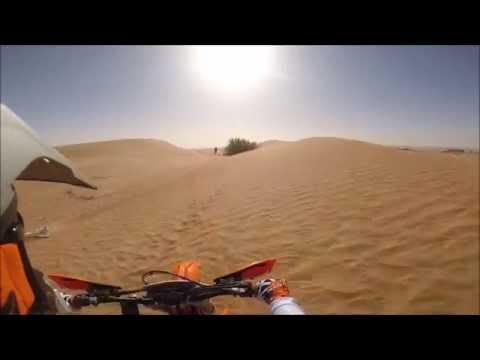 Desert riding UAE with KTM 500 exc