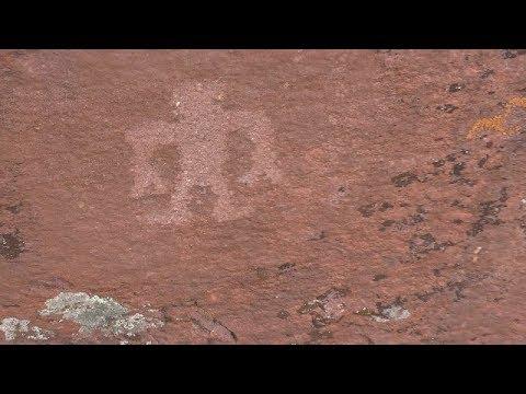 "GIANT ROCK FACES n Bigfoot PETROGLYGHS ""4k"""