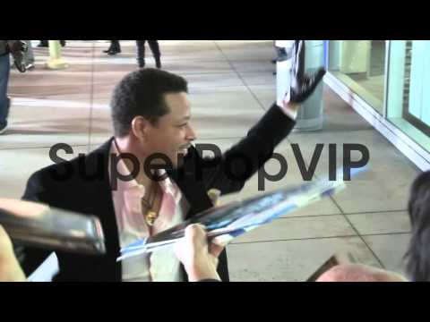 Terrence Howard greets fans at the Dead Man Down Premiere...
