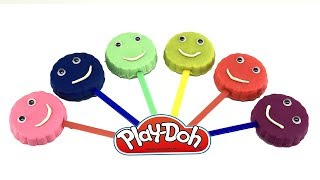 Learn Colors Play Doh Rainbow Lollipops  Popsicle Super Surprise Toys