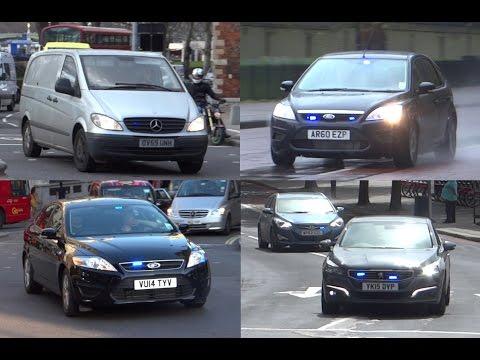 Metropolitan Police - Unmarked Cars Responding Compilation