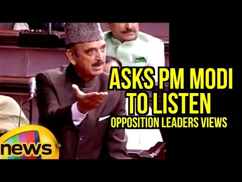 Ghulam Nabi Azad Asks PM Modi To Listen Opposition Leaders Views On Various Issues | Mango News