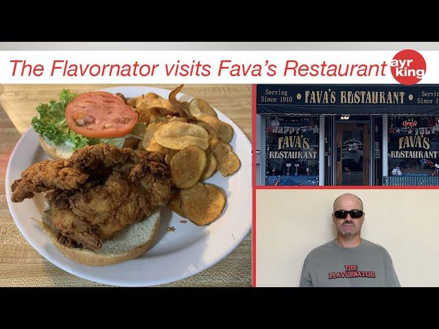 THE FLAVORNATOR VISITS: FAVA'S RESTAURANT