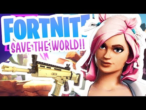 CAN WE CRAFT THE GOLD SCAR?! (Fortnite Save the World)