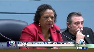 Police chief responds to mayor's 'pig' comment