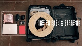 How to Pack a Minimalist Suitcase | Packing Hacks