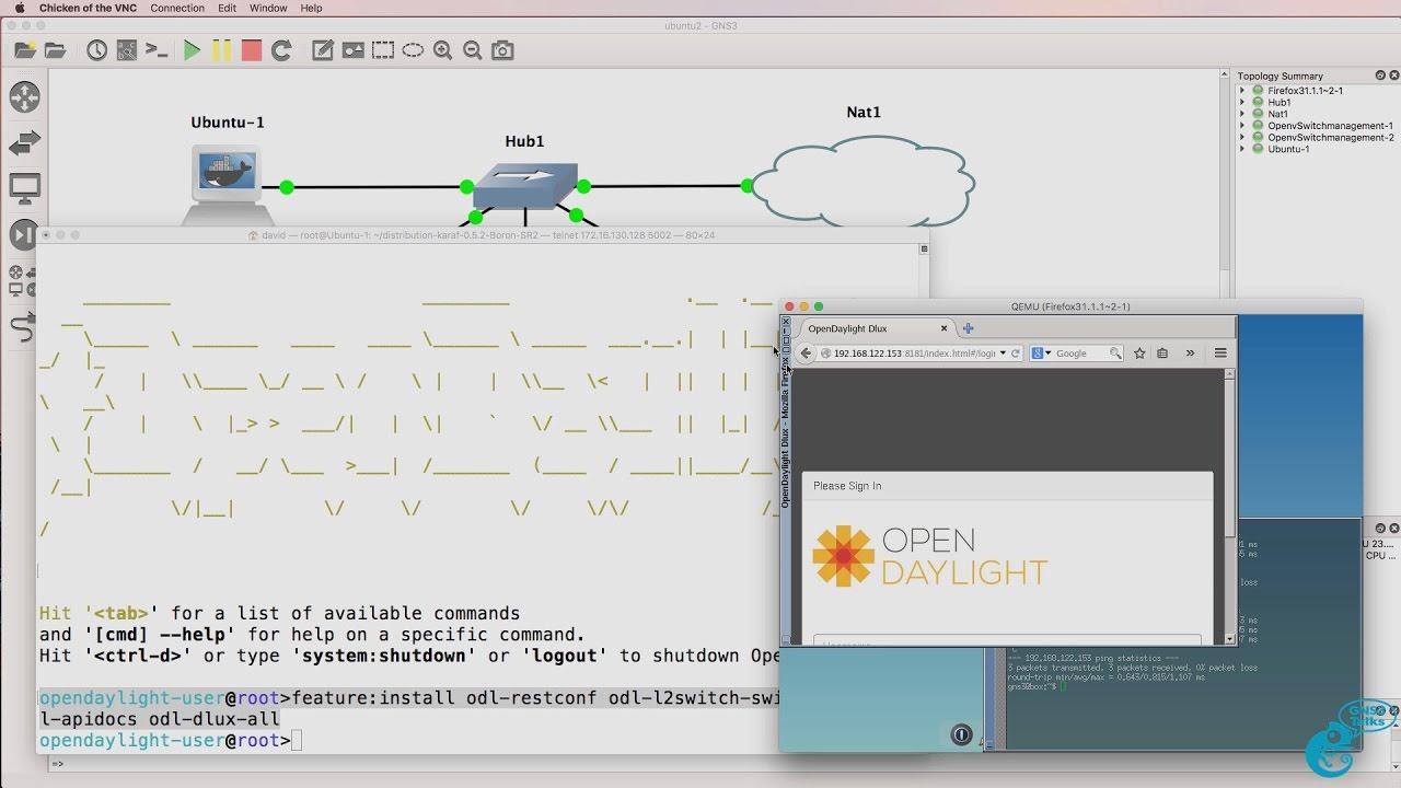 GNS3 Talks: OpenDaylight installation: Ubuntu Docker Container,  OpenDaylight, Python, SDN Part 4
