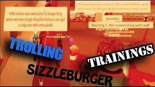 TROLLING SIZZLE BURGER TRAININGS- ROBLOX- *FIRED!*