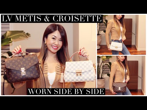 LOUIS VUITTON Pochette Metis & Croisette Comparison| Worn Side by Side