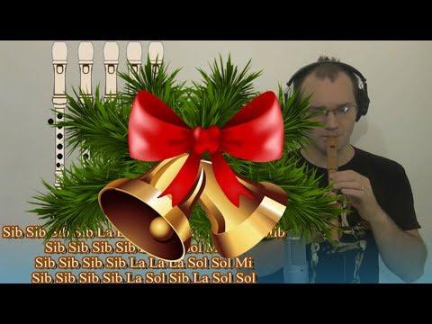 Dulce Navidad Jingle Bells, Noel, Natal en Flauta Dulce FAMOSA!!! Villancico Con todas las notas