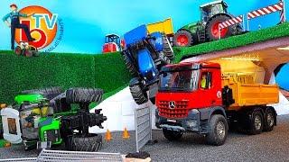 BRUDER Traktors CRASH Deutz New Holland Fendt
