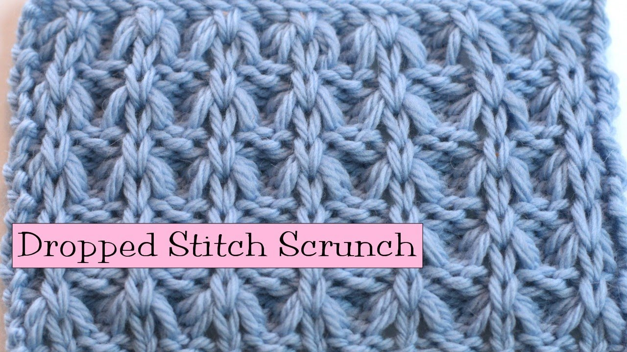 Knitting Fancy Rib Stitches : Fancy Stitch Combo - Dropped Stitch Scrunch - YouTube