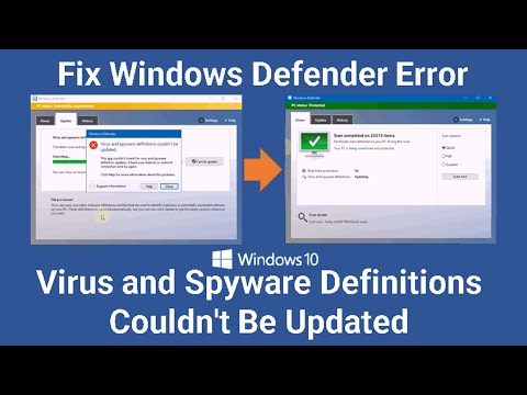 Fix Windows Defender Error   Virus And Spyware Definitions Couldn't Be Updated