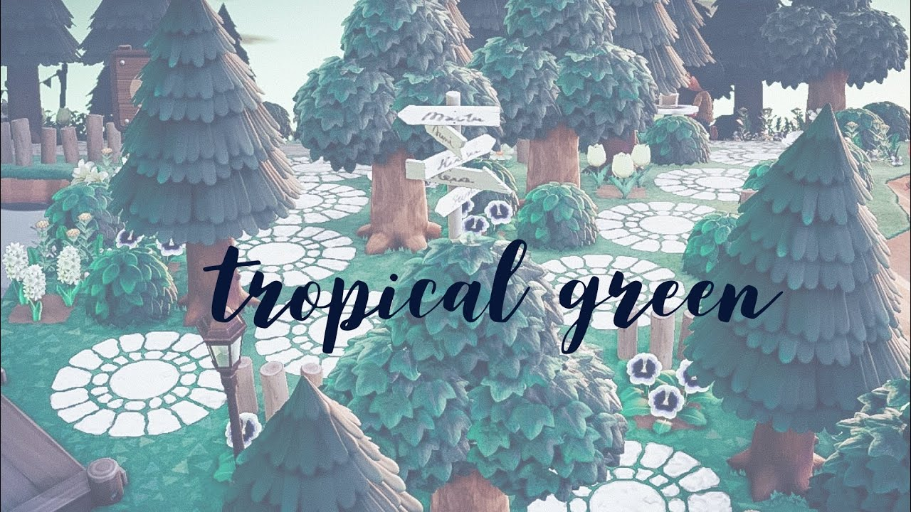 Natural Green & White Tropical Island Tour↠ Aiko