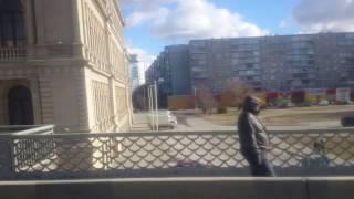 Калининград 2017 февраль центр города 4K видео(На автобусе от бывшего ресторана