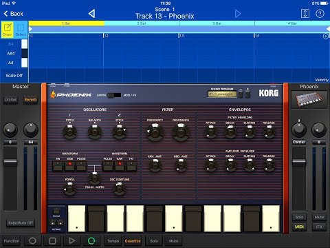 KORG Gadget Lets Compose With The New PHOENIX Presets for the iPad