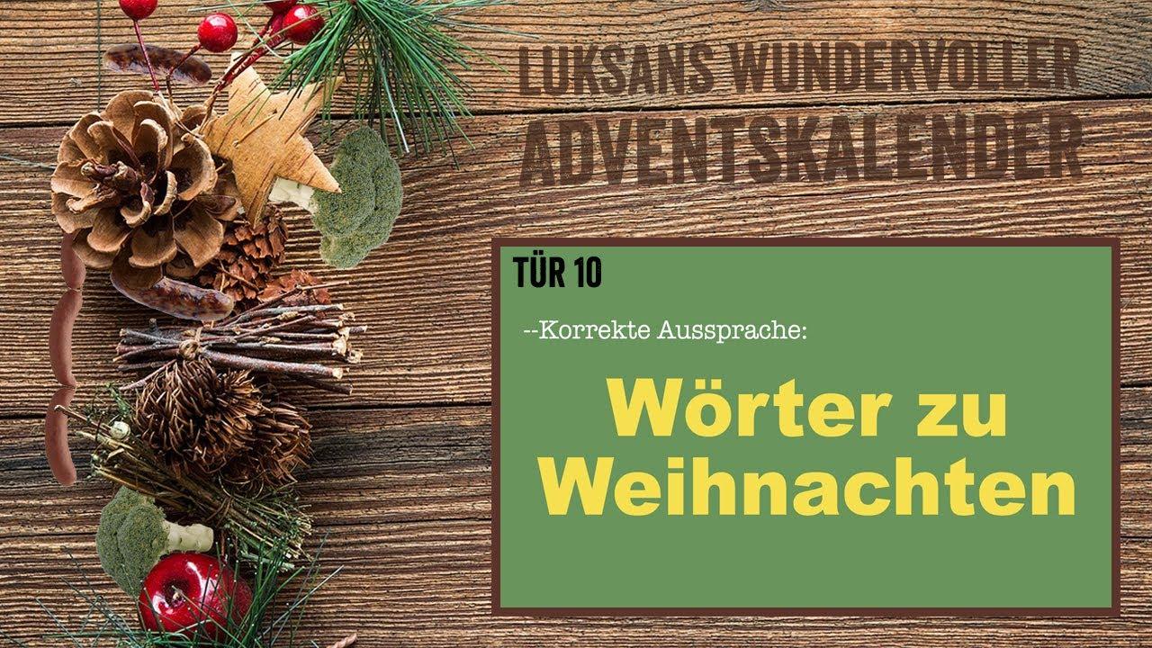 TÜR 10: Korrekte Aussprache - Wörter zu Weihnachten (Luksans ...