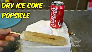 DIY Dry Ice Coca Cola Popsicle