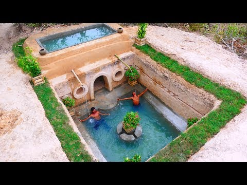 Build The Most Secret Ancient Underground Temple And Best Swimming Pool