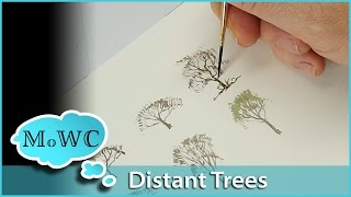 How to Easily Paint Distant Bare Trees in Watercolor
