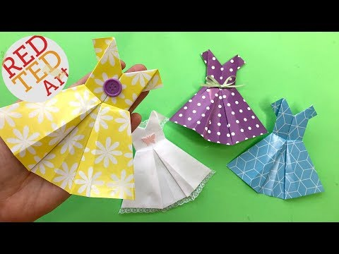 How to Make Origami Dress for Beginners - Easy Paper Dress DIY