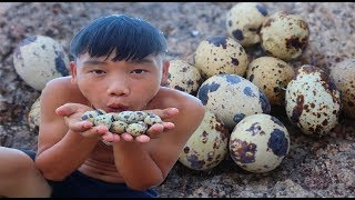 survival skills | He found bird eggs and how to eat it - primitive life | survival skills. HT