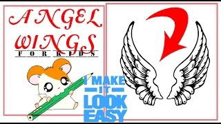 How to draw ANGEL WINGS in simple steps