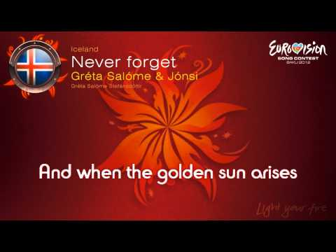"Greta Salome & Jonsi - ""Never Forget"" (Iceland)"