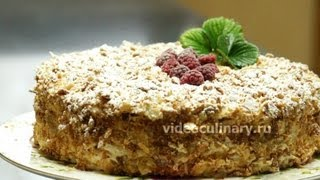 Торт Наполеон с яблочной прослойкой - Рецепт Бабушки Эммы