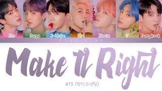 BTS                    -    39 Make it Right  39  LYRiCS  Color Coded s EngRomHan  Resimi