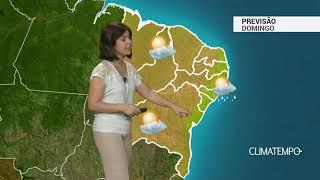 Previsão Nordeste – Chuva leve no litoral