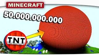ВЗОРВЁМ 50.000.000.000 TNT В MINECRAFT? - ПЯТЬДЕСЯТ МИЛЛИАРДОВ ТНТ