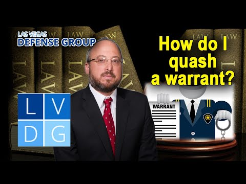 How do I quash my warrant in Nevada?
