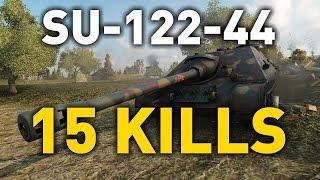 World of Tanks || 15 KILLS - SU-122-44