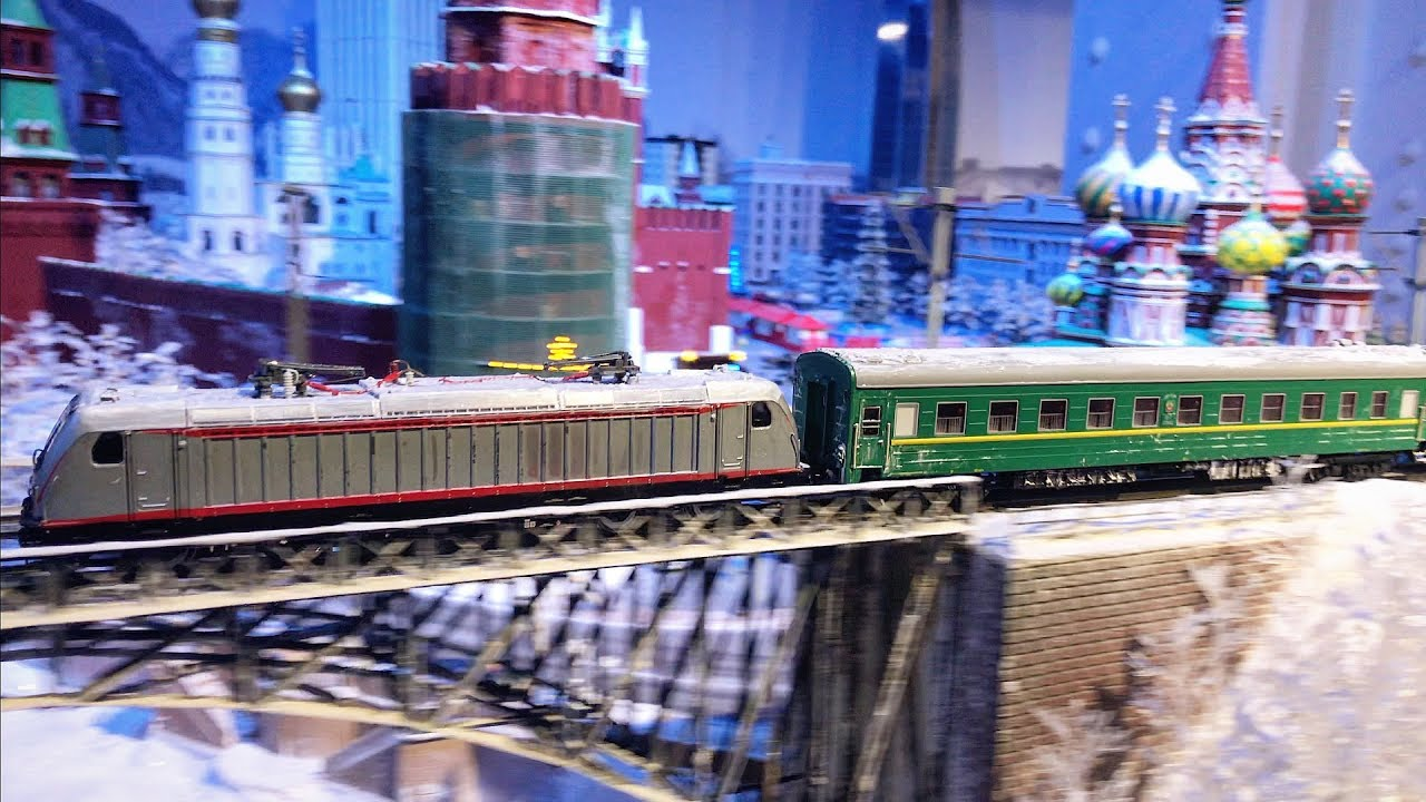 Beautiful and Extremely Detailed Model Railroad layout in HO scale - Russia 4K UHD