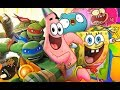 Teenage Mutant Ninja Turtles - SpongeBob - Block Party 2 - Cartoon Movie Games TMNT HD