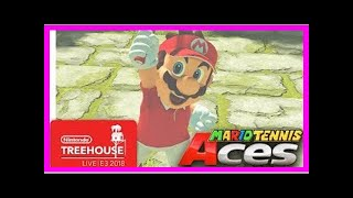 Breaking News | Mario Tennis Aces Gameplay Pt. 1 - Nintendo Treehouse: Live