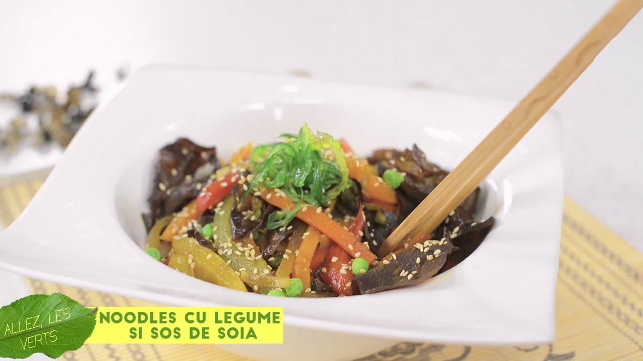 Reteta - Noodles cu legume si sos de soia | Bucataras TV