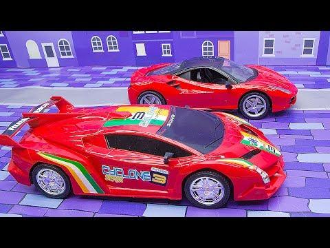 КРУТЫЕ ТАЧКИ! Распаковка гоночной машины. Игры Гонки для мальчиков. Видео для детей