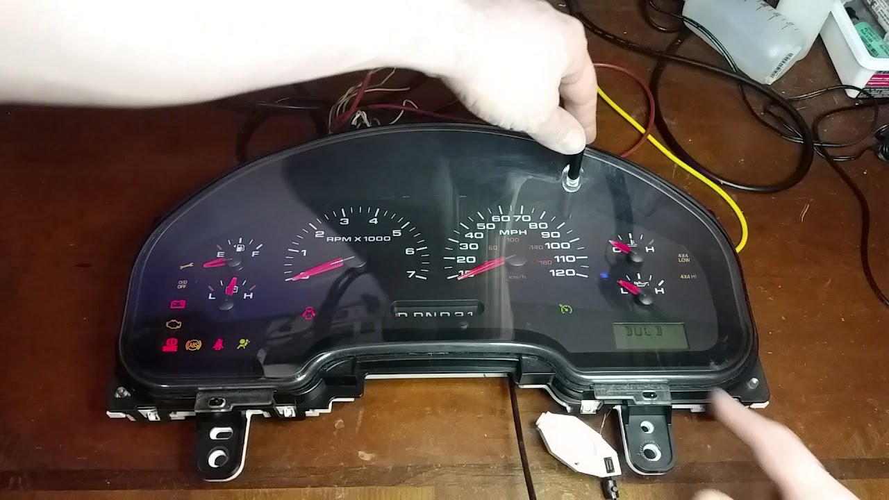 hight resolution of how to test a ford instrument gauge cluster