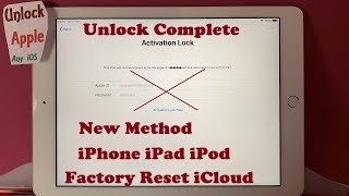 Factory Reset iCloud Locked iPhone/iPad Any iOS/Generation All Models Without Password🙀