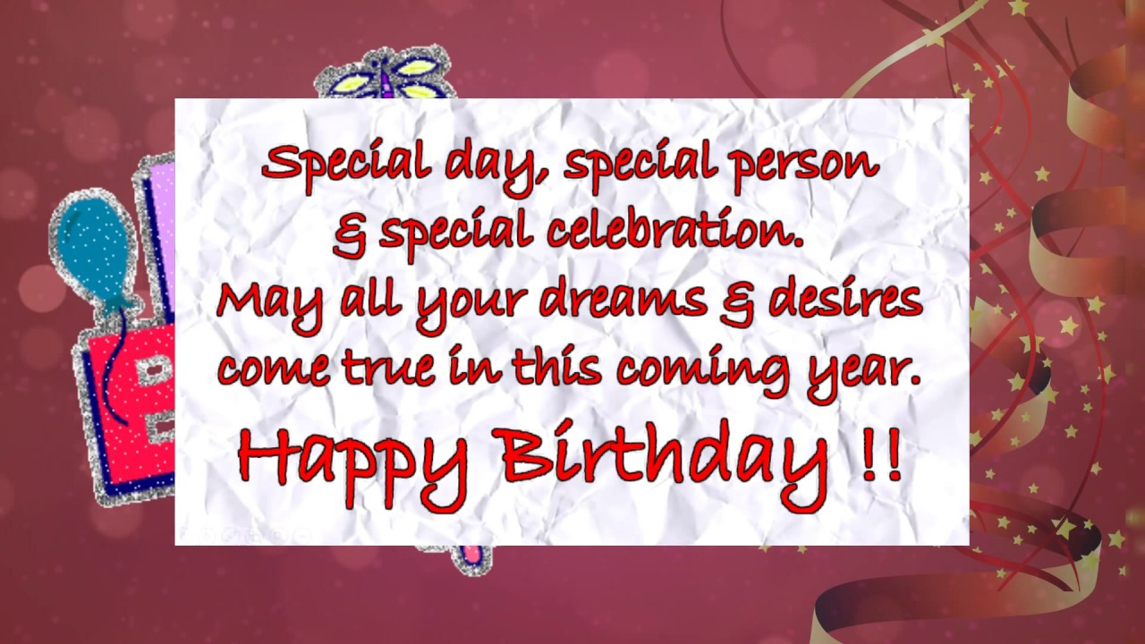 Happy birthday greeting l Video Greeting Card YouTube – Happy Birthday Video Greeting Cards