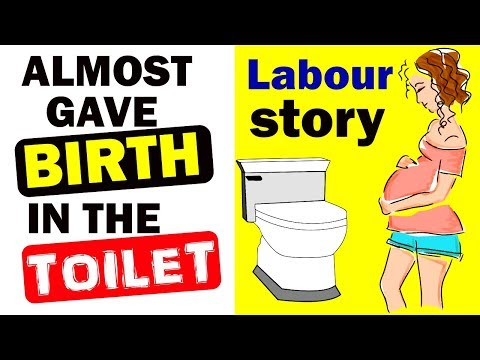 I almost had my baby in the toilet | Natural child birth story|Labour story- Part 1