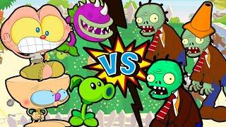 Mongo e Drongo em Plantas VS Zumbis. Plants vs Zombies em desenho animado c/ Mongo e Drongo mendigos