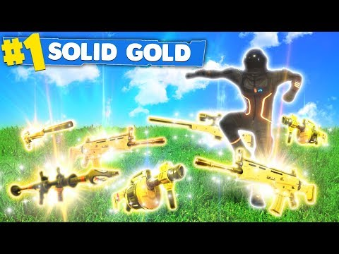 *NEW* LEGENDARY GUNS ONLY! SOLID GOLD UPDATE! (Fortnite: Battle Royale)
