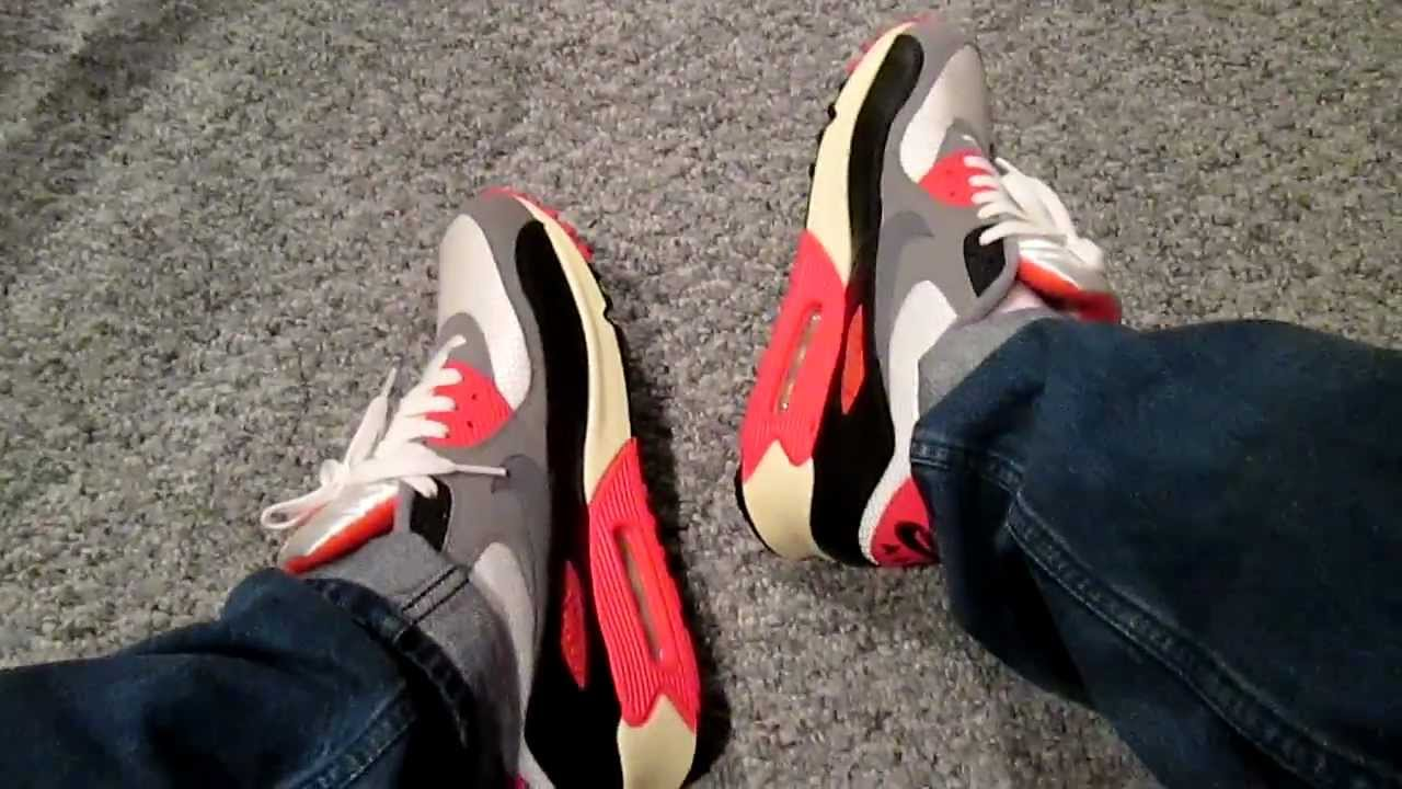 Nike Air Max 90 Infrared On Feet
