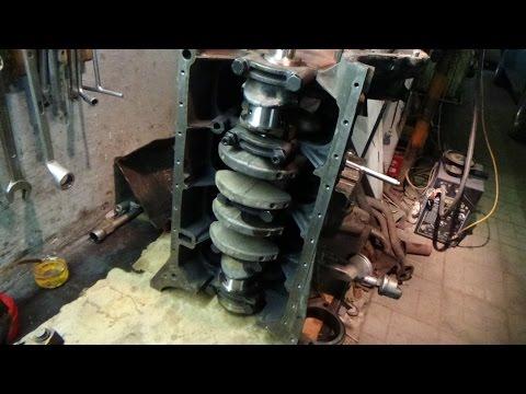 Ремонт двигателя М 102 на Мерседес 190,часть №5 начало сборки.