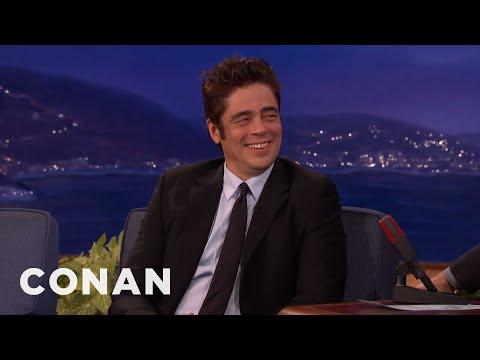 Benicio Del Toro's Disneyland Trip With Rod Stewart  - CONAN on TBS