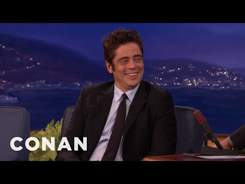 Benicio Del Toro's Disneyland Trip With Rod Stewart   CONAN on TBS